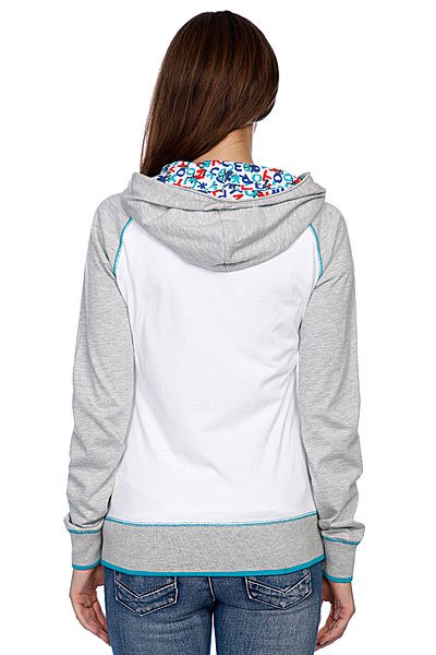 Толстовка женская Zoo York Brooklin Basic Hoodie White Proskater.ru 3560.000