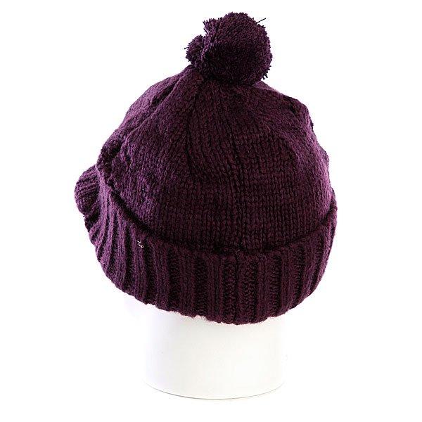 фото Шапка женская с помпоном Zoo York Lace Knit Cable Hat Potent Purple - картинка [3]