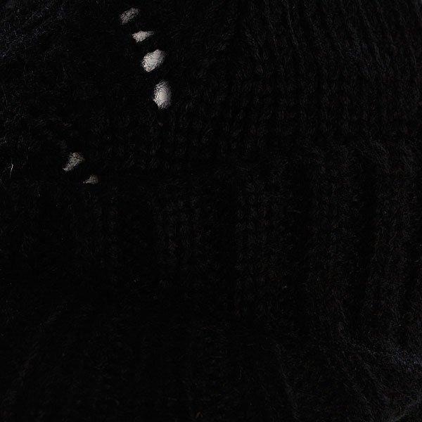 фото Шапка женская с помпоном Zoo York Lace Knit Cable Hat Black - картинка [2]