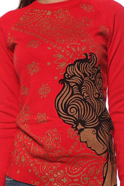 Лонгслив женский Vans Geisha Girl Crew Black/Red/Gold Proskater.ru 1799.000