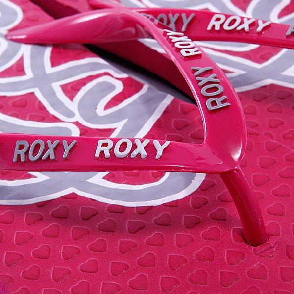 Шлепанцы женские Roxy Corpo Neon Berry Proskater.ru 359.000