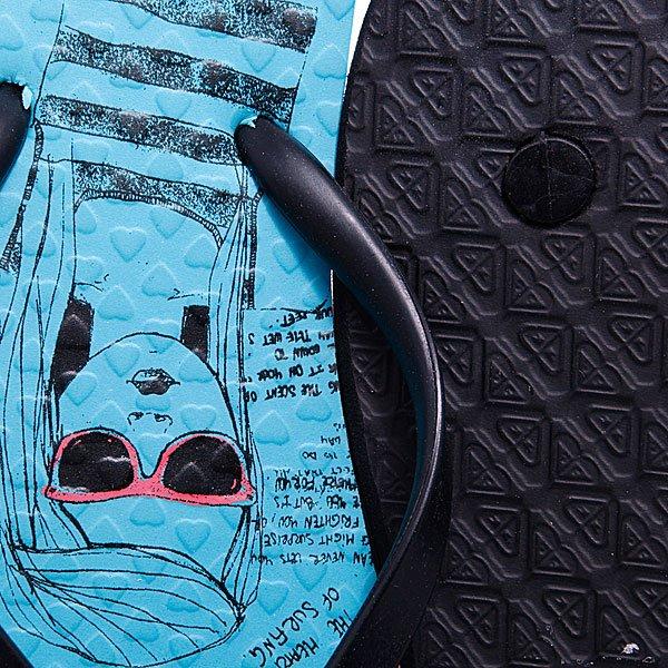 Шлепанцы детские Roxy Belinda Girl Turquoise Proskater.ru 680.000