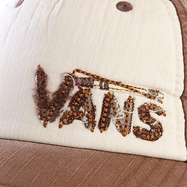 фото Бейсболка женская Vans Plaid Hat Chocolate - картинка [2]