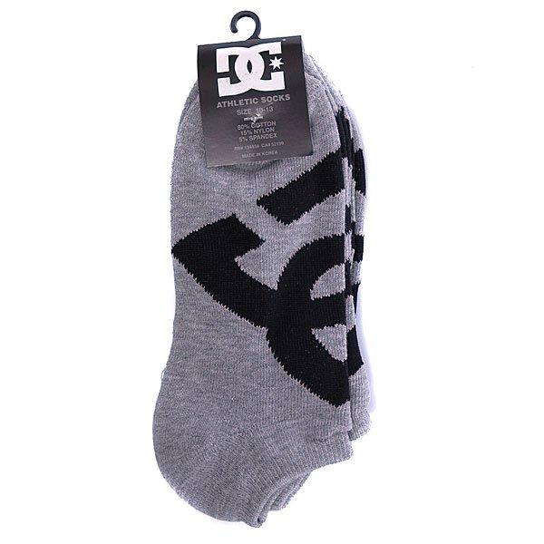 Носки DC Suspension 2 No-Show Socks Heather Grey (3-Pack) Proskater.ru 650.000