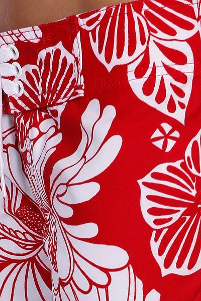 Шорты пляжные женские Animal Joyful Red/White Proskater.ru 1839.000