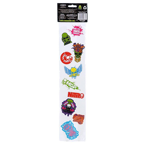Шкурка для скейтборда Mgp Grip Tape With Skull Print and 10 Stickers Two Tone Blue Proskater.ru 870.000