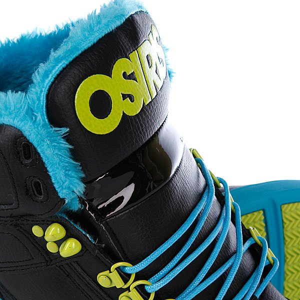 Кеды кроссовки зимние Osiris Nyc 83 Shr Black/Teal/Lime Proskater.ru 5780.000