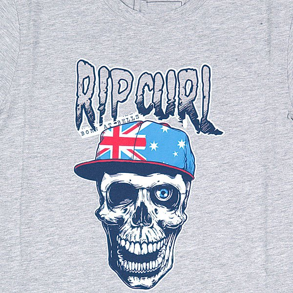 Футболка детская Rip Curl Born At Bells Ss Tee Cement Marle Proskater.ru 619.000