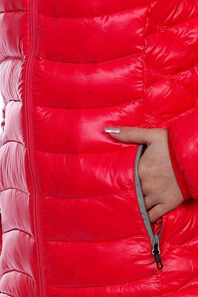 Куртка пуховик женская Roxy Nordic Down Jk Raspberry Proskater.ru 4990.000