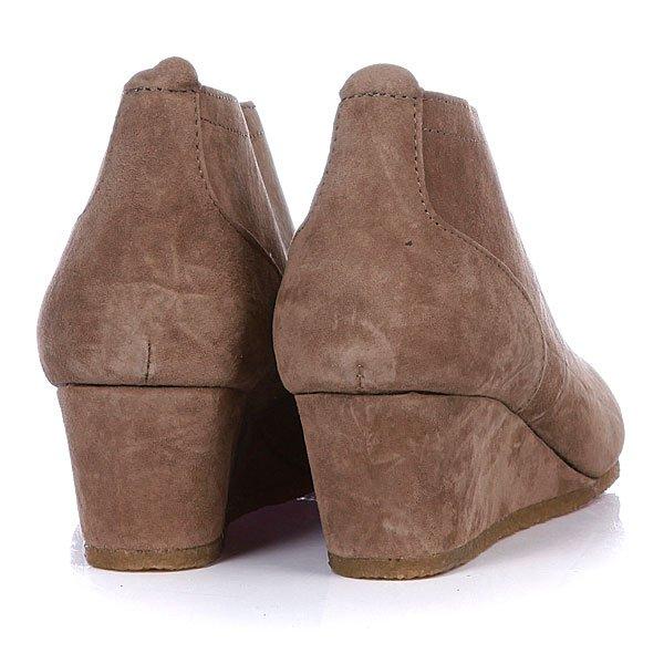 фото Ботинки женские на танкетке Pointer Lara Tobacco/Natural, коричневые
