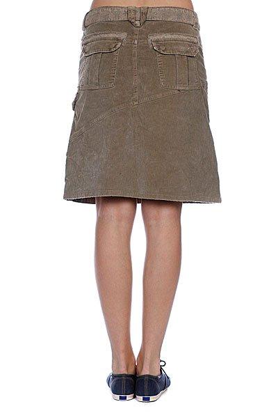 Юбка женская Animal Knee Length Cord Skirt Fungi Proskater.ru 1679.000