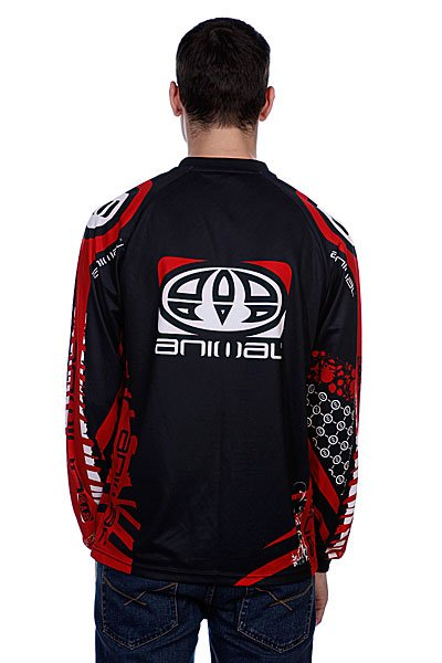 Лонгслив Animal Team Rider Jersey Black/Red Proskater.ru 2299.000