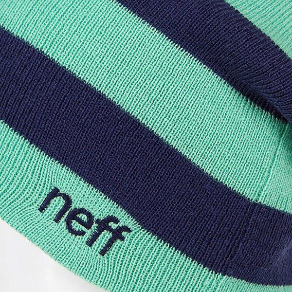 фото Шапка-носок женская Neff Wmn Reversibella Green/Blue - картинка [2]