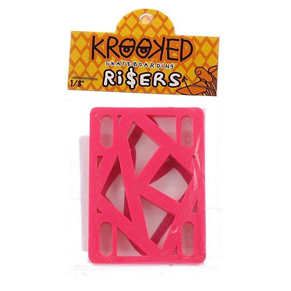 Подкладки для скейтборда Krooked Riser Hot Pink 1/8 Proskater.ru 150.000