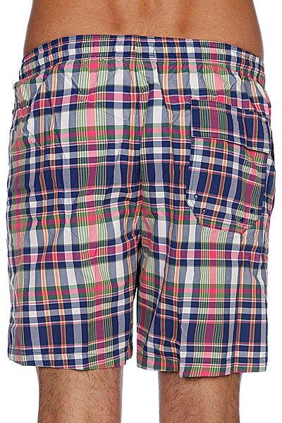 Пляжные мужские шорты Fred Perry Yarn Dyed Check Swim Short Blue/Pink Proskater.ru 1629.000