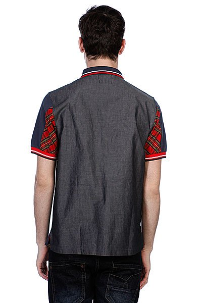 Поло Fred Perry Izzue Pique Front Chambray Back Patch Dark Airforce Proskater.ru 3950.000