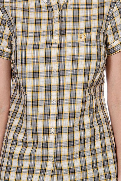 Рубашка женская Fred Perry Summer Check Shirt Yellow Proskater.ru 4350.000
