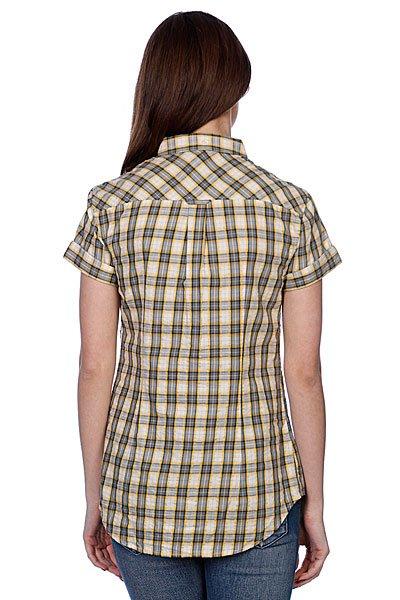 Рубашка женская Fred Perry Summer Check Shirt Yellow Proskater.ru 4350.000