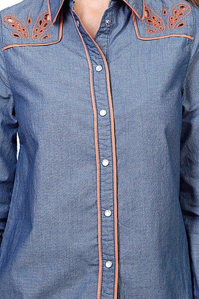 Рубашка женская Insight Napier Shirt 70'S Mid Blue Proskater.ru 3539.000