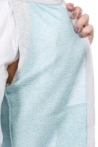 Толстовка с наушниками женская Hoodiebuddie Relay Grey/Blue Proskater.ru 2609.000