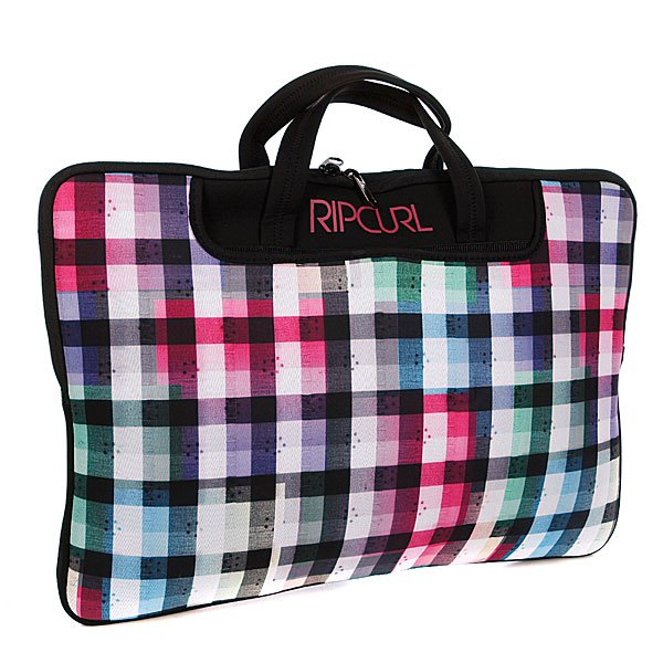 Сумка для ноутбука женская Rip Curl Check Laptop Sleeve Solid Black Proskater.ru 1189.000