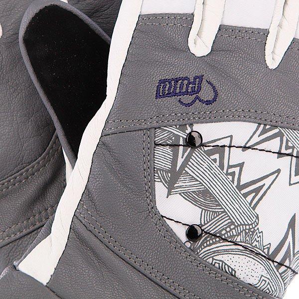 Перчатки сноубордические женские Pow Ws Feva Glove Gtx Grey Proskater.ru 3490.000