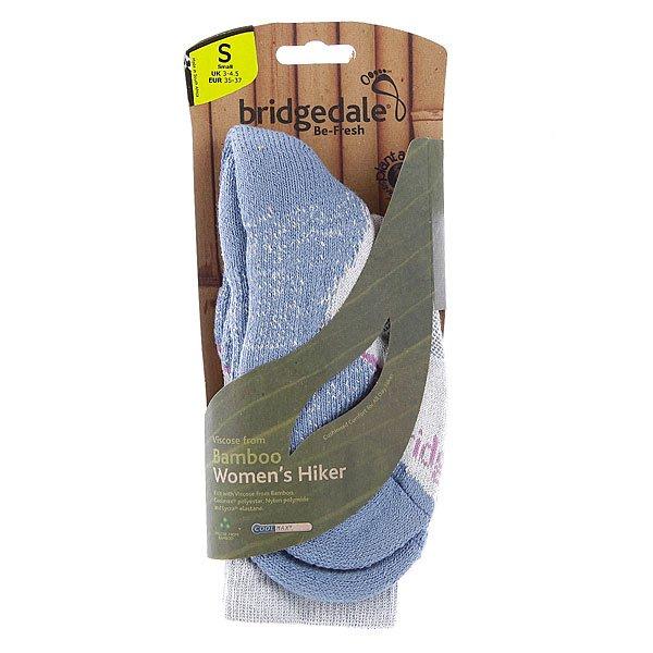 Носки средние женские Bridgedale Viscose From Bamboo Hiker Smoky Blue Proskater.ru 890.000
