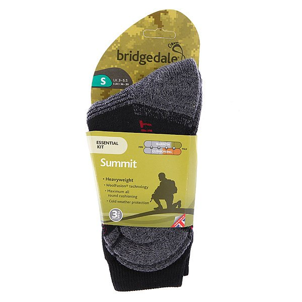Носки средние Bridgedale Essential Kit Summit Black Proskater.ru 1090.000