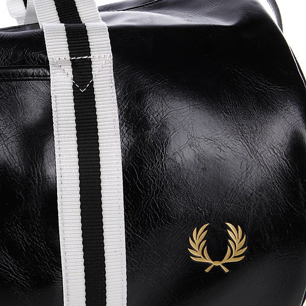 Сумка Fred Perry Classic Barrel Bag Black/Ecru Proskater.ru 4150.000