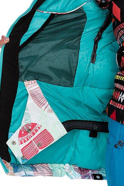 Куртка женская Roxy Wildlife Printed White/Blue/Red Proskater.ru 11980.000