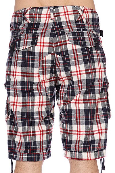 Шорты K1X Neals Cargo Chec Shorts Beige/Red/Blue Proskater.ru 1739.000