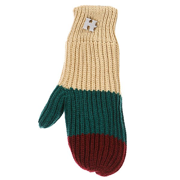 Варежки женские Harrison Beatrice Gloves Beige/Dark Green/Wine Proskater.ru 450.000