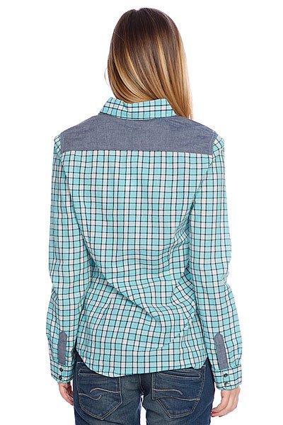 Рубашка в клетку женская Roxy Peachy Baltic Blue Proskater.ru 1599.000