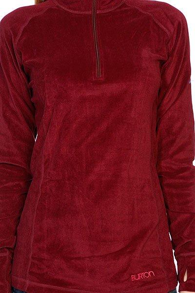 Термобелье (верх) женское Burton Wb Expdtn 1/4 Zip Sangria Proskater.ru 2749.000