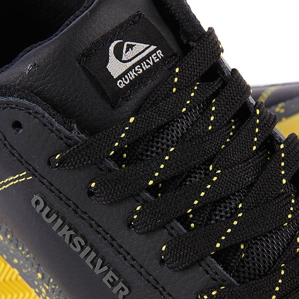 Кеды кроссовки детские Quiksilver Little Area 5 Action Black/Grey/Yellow Proskater.ru 1299.000