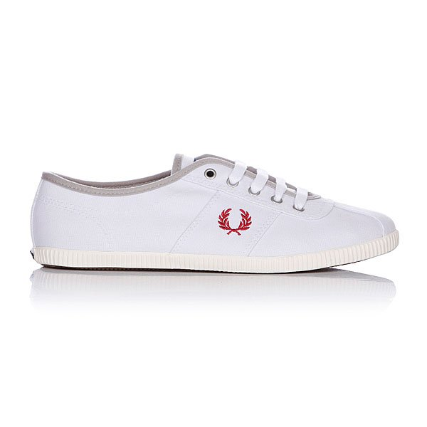 Кеды кроссовки женские Fred Perry Hayes Canvas White Proskater.ru 3900.000