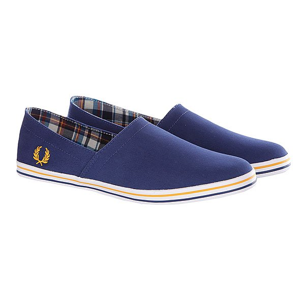 Слипоны Fred Perry Kingston Stampdown Twill Blue Proskater.ru 3250.000