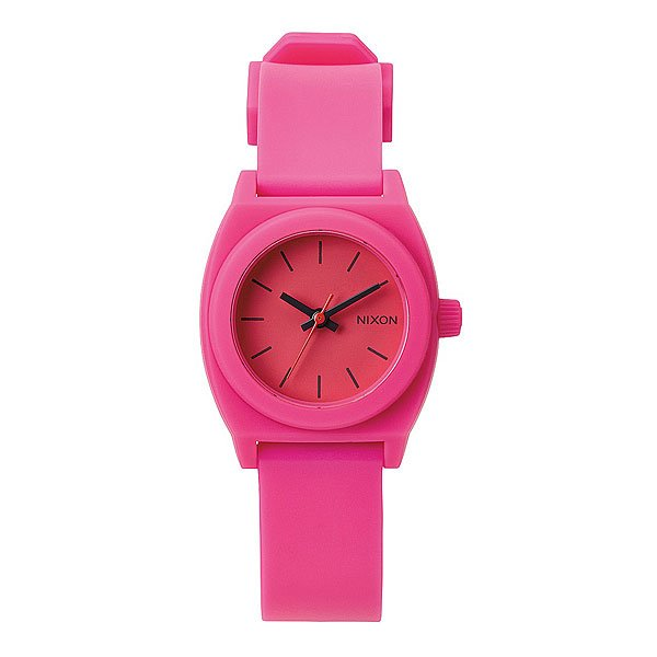 Часы женские Nixon Small Time Teller P Hot Pink Proskater.ru 3450.000