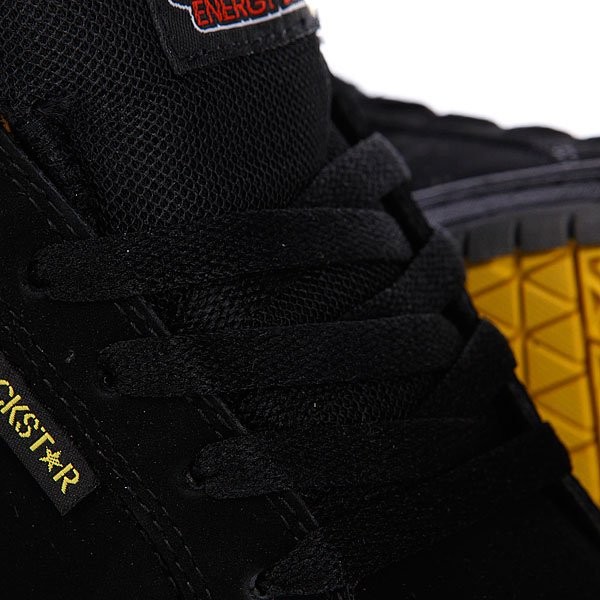 Кеды кроссовки детские Etnies Sample Kids Rockstar Fader Black/Grey/Yellow Proskater.ru 1819.000
