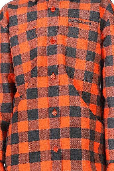 Рубашка в клетку детская Quiksilver Enderby Youth Orange Proskater.ru 2280.000
