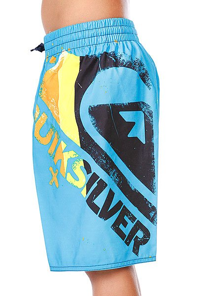 Шорты пляжные детские Quiksilver Mountain Wave Logo Vl Youth Cyan Proskater.ru 1890.000