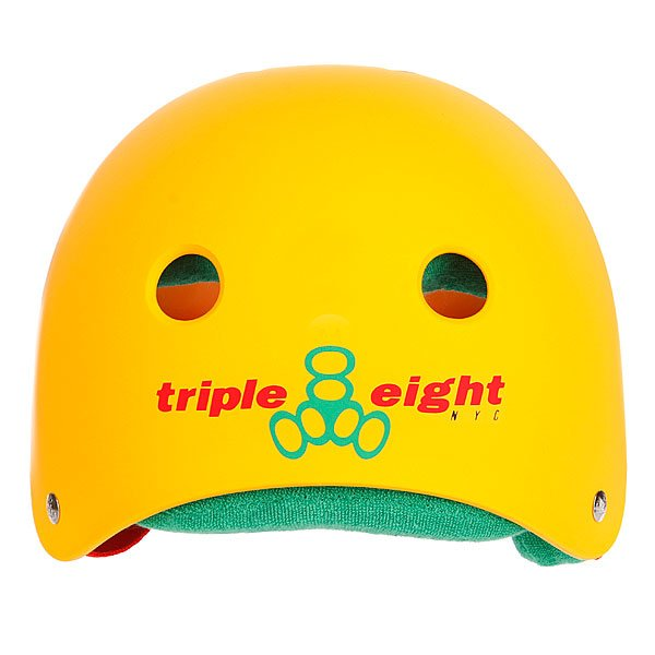 Шлем для скейтборда Triple Eight Brainsaver Rasta Yellow W/Green Proskater.ru 2430.000