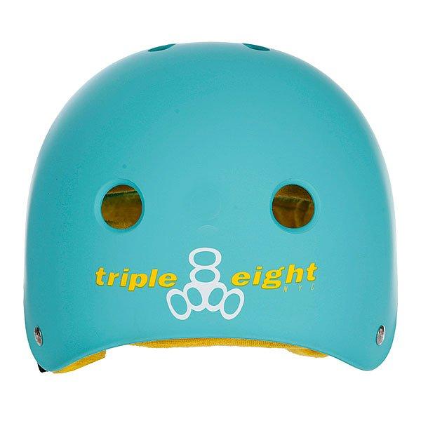 Шлем для скейтборда Triple Eight Brainsaver Rubber Baja Teal Rubber W/Yellow Proskater.ru 2430.000