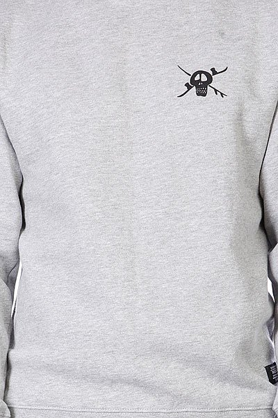 Толстовка Holden Small Snow Skull Crew Grey Heather Proskater.ru 1719.000