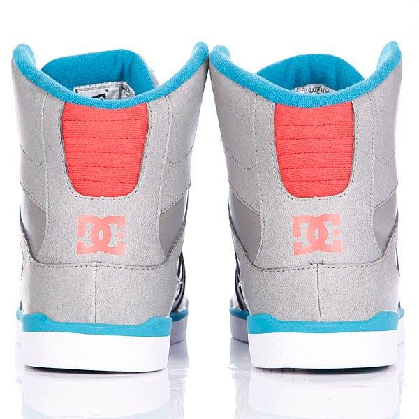 Кеды кроссовки высокие женские DC Rebound Slim High Grey Proskater.ru 4450.000