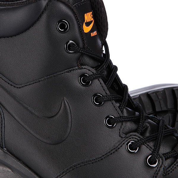 Ботинки зимние Nike ACG Manoa Leather Black/Total Orange Proskater.ru 4850.000