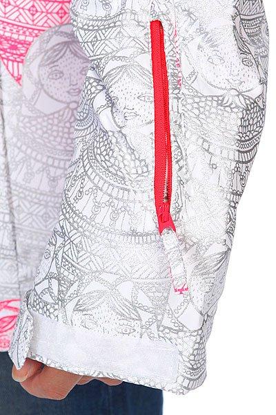 Куртка утепленная женская Roxy Jetty Metalic Jk Bright White Proskater.ru 9890.000