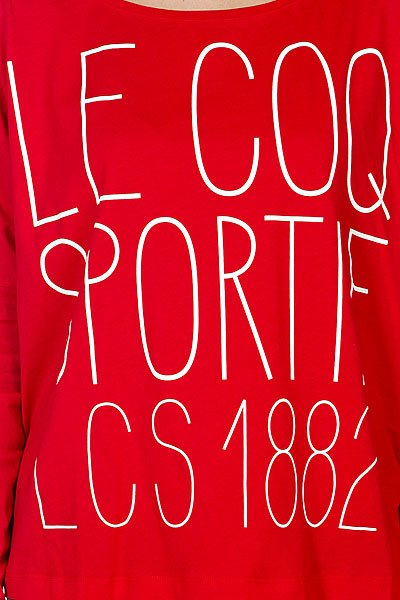 Лонгслив женский Le Coq Sportif Fantaisie Capelet Tee Vine Red Proskater.ru 2584.000