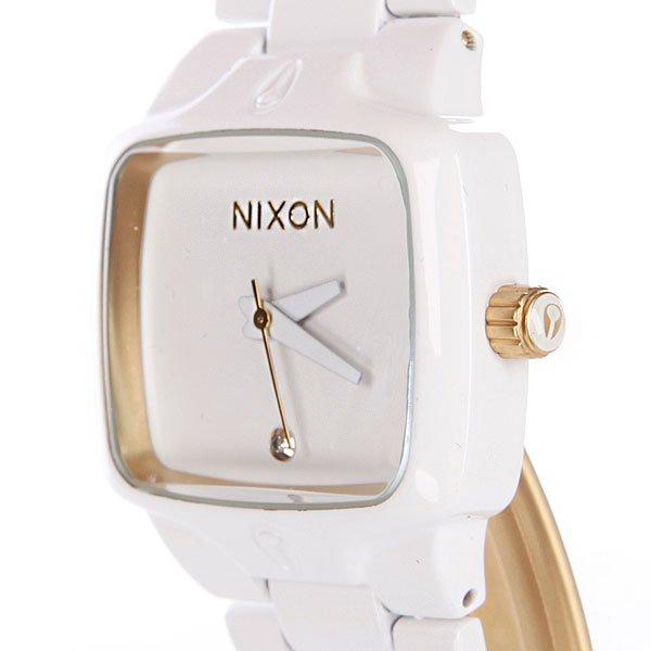 Часы женские Nixon Small Player All White/Gold Proskater.ru 14950.000