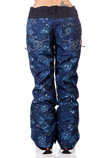 Штаны сноубордические женские Betty Rides Acid Rocker Pant Floral Print Denim Proskater.ru 5950.000